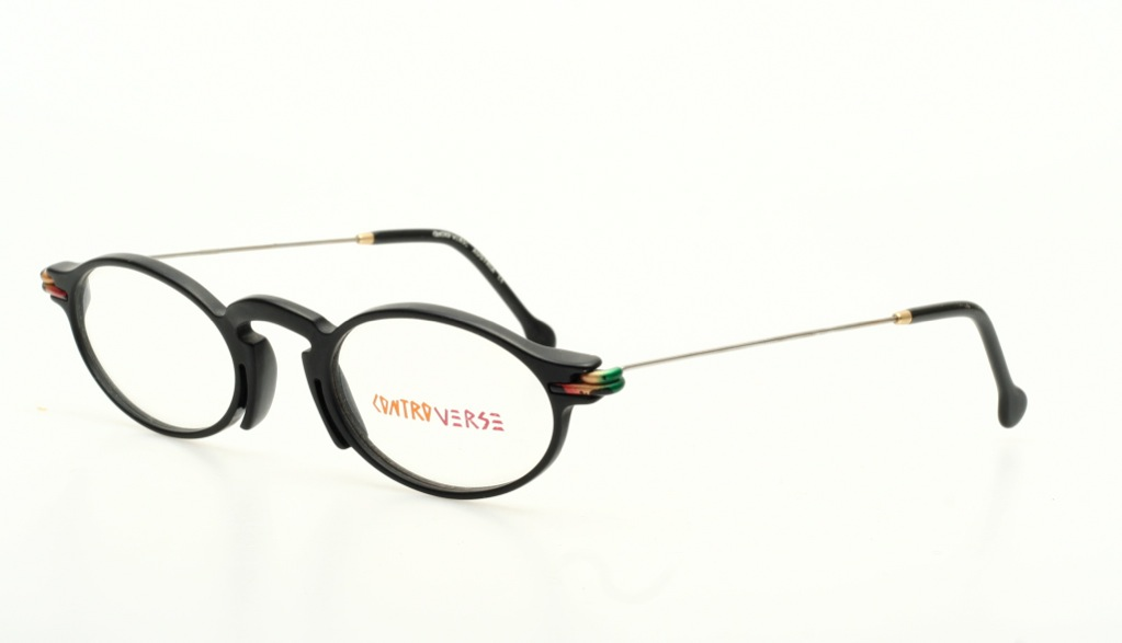 Eyeglass Frames Made In Austria : Unique oval eyeglasses in black & silver by CONTROVERSE ...