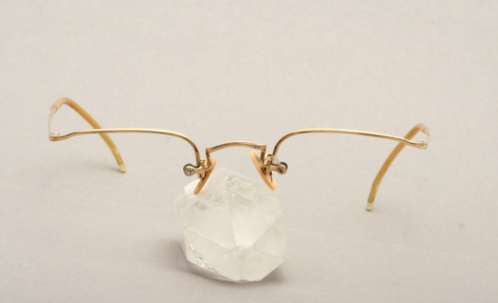 Antique, half rimless smaller eyeglasses, gold filled by ...
