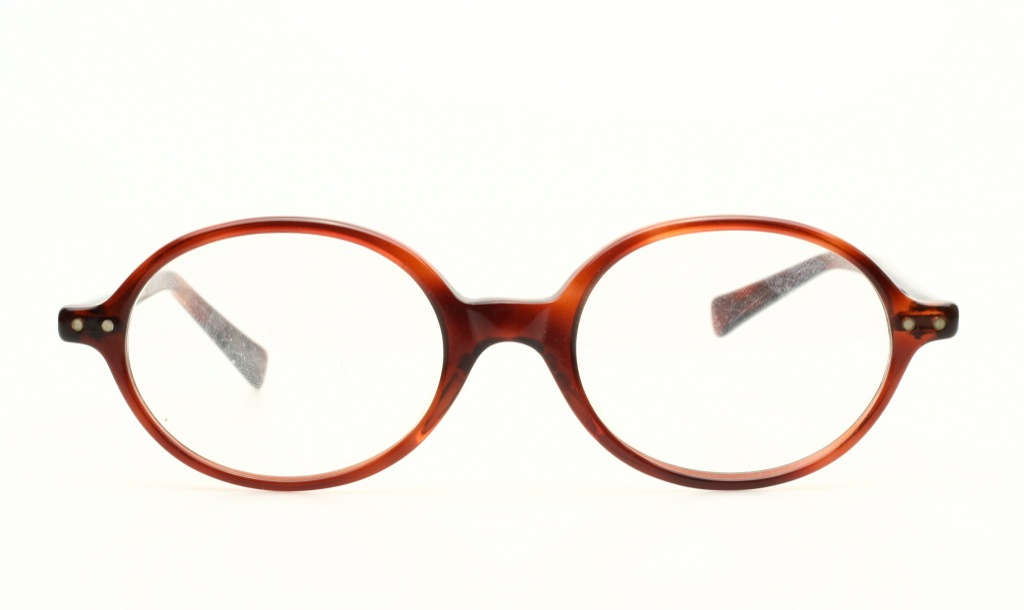 Eyewear Frames Made In Usa : Classic oval Vintage eyeglasses in havana brown by HUDSON ...