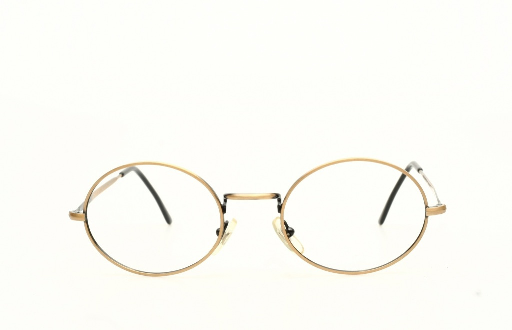 classic oval eyeglasses 42 20mm antique golden with