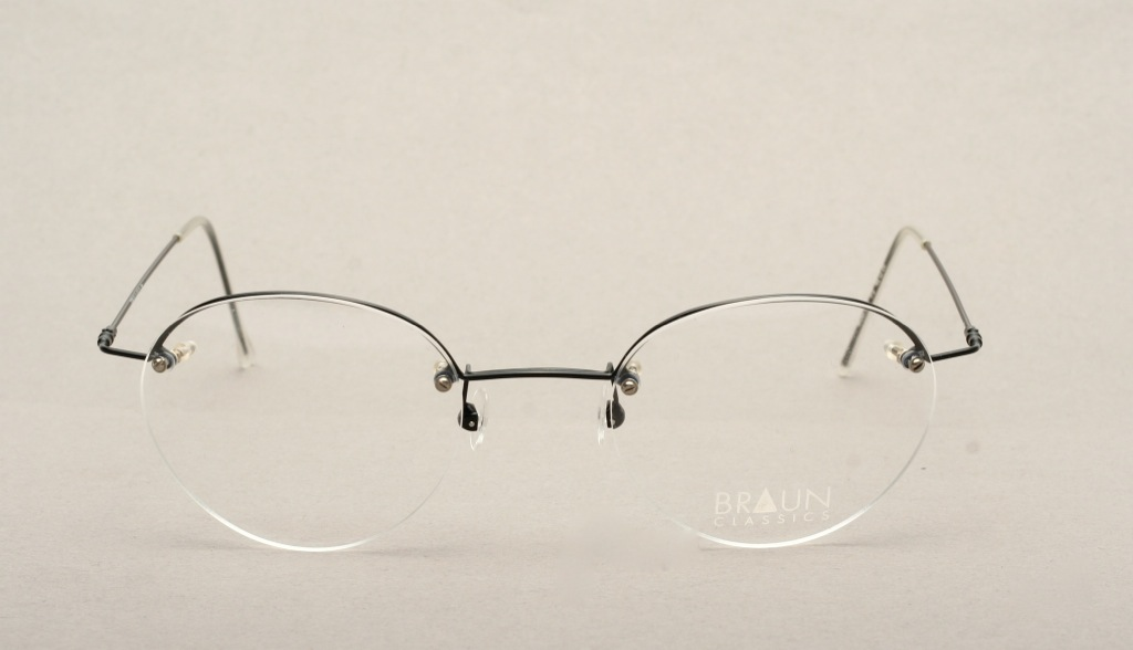 Rimless Glasses Nylon : Panto half rim eyeglasses black by BRAUN CLASSICS in 48 ...
