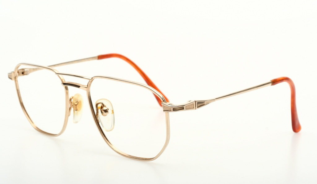 Eyeglass Frames Made In Japan : Elegant mens eyeglasses in glossy golden by HOYA made in ...