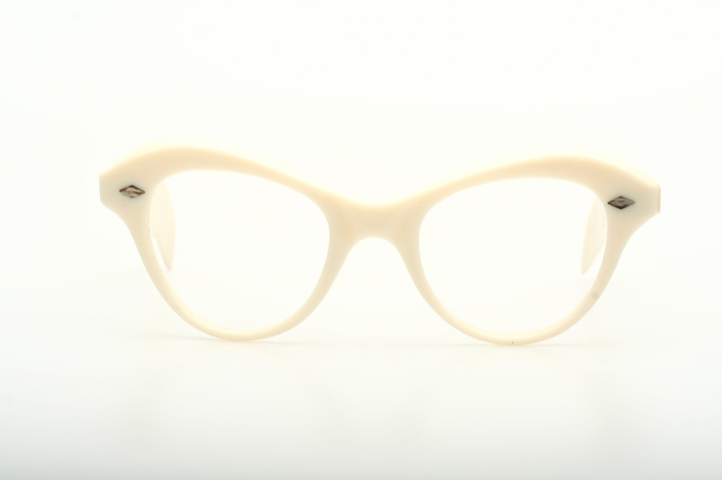 Eyeglass Frames Made In France : Exciting ivory white Vintage eyeglasses made in France ...
