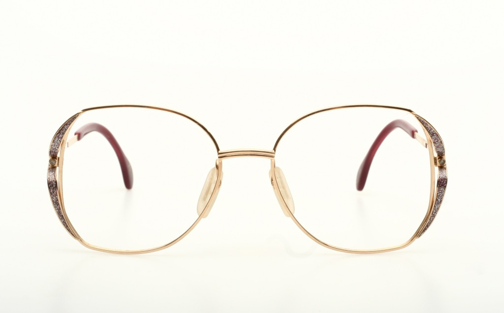 exclusive eyeglasses in shiny golden with