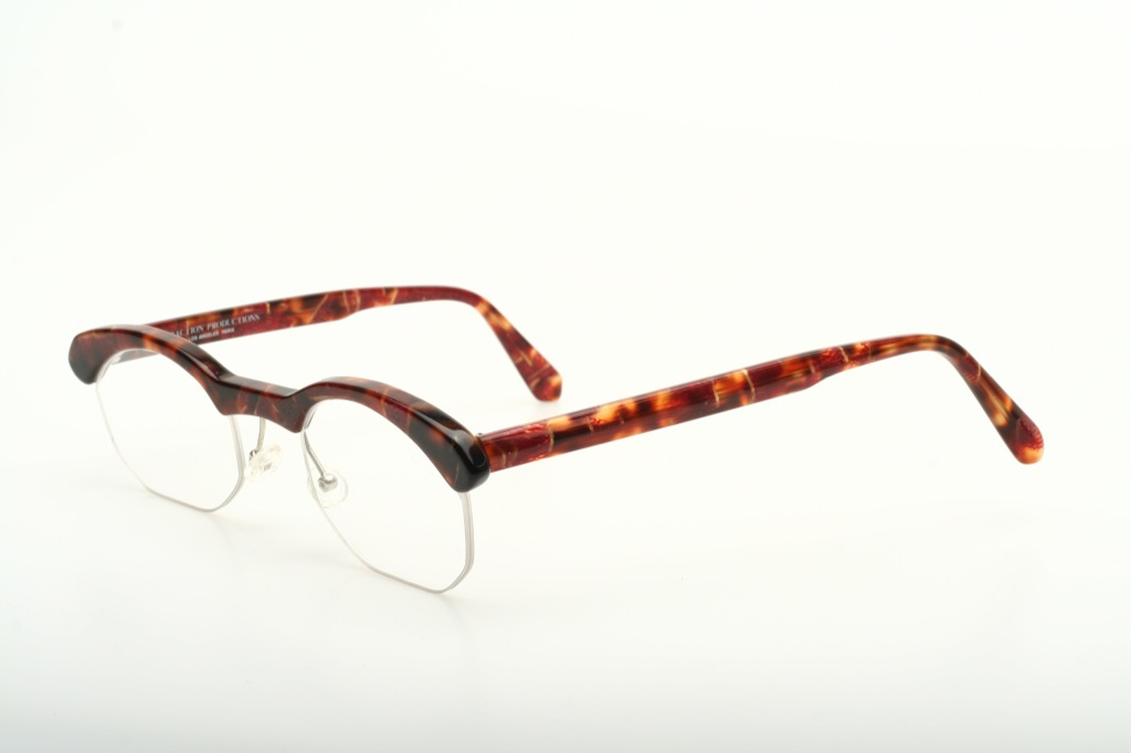 Frameless Vintage Glasses : Expressive, half rimless Vintage eyeglasses by TRACTION ...
