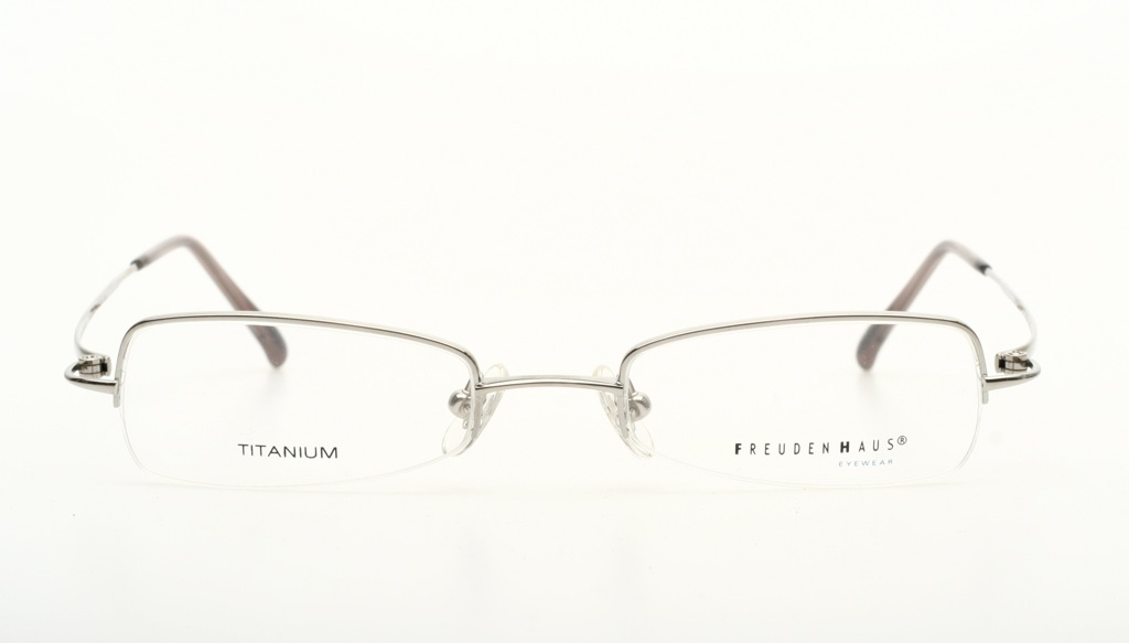 Titanium Eyeglass Frames Made In Japan : Flat, half rimless TITANIUM eyeglasses by FREUDENHAUS ...