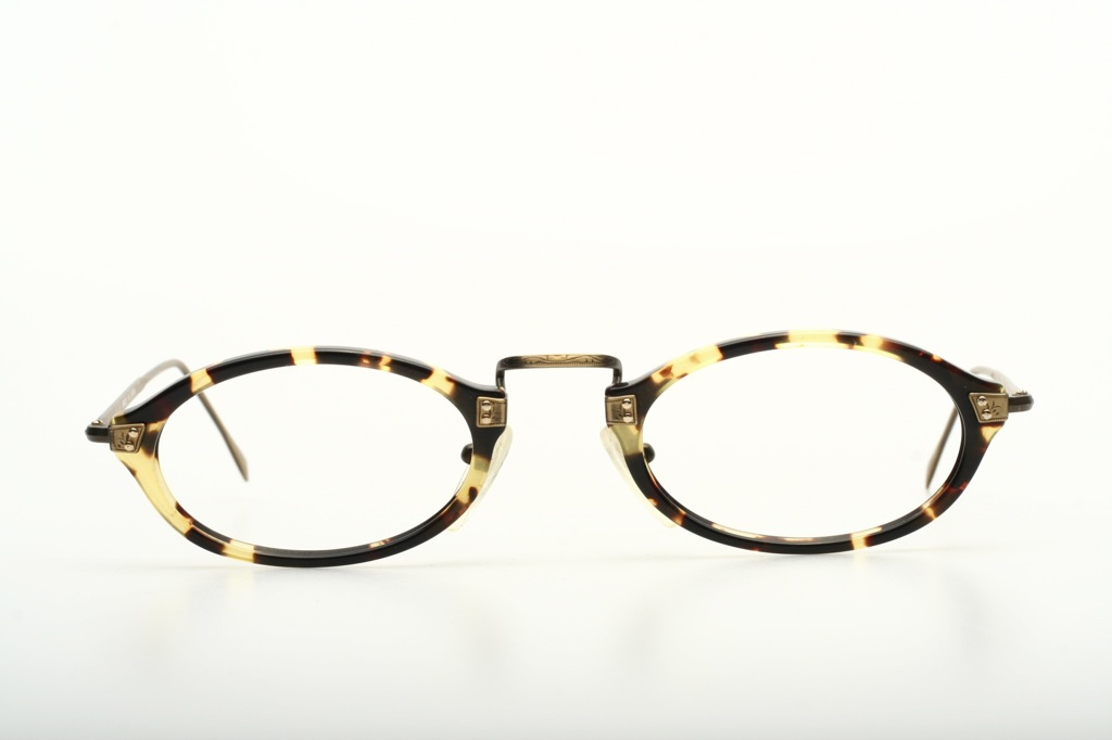 Eyeglass Frames Made In Japan : Flat oval acetate combi eyeglasses by ELLE, Made in Japan ...