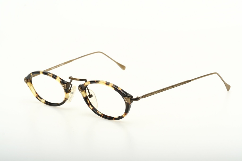 Flat oval acetate combi eyeglasses by ELLE, Made in Japan ...