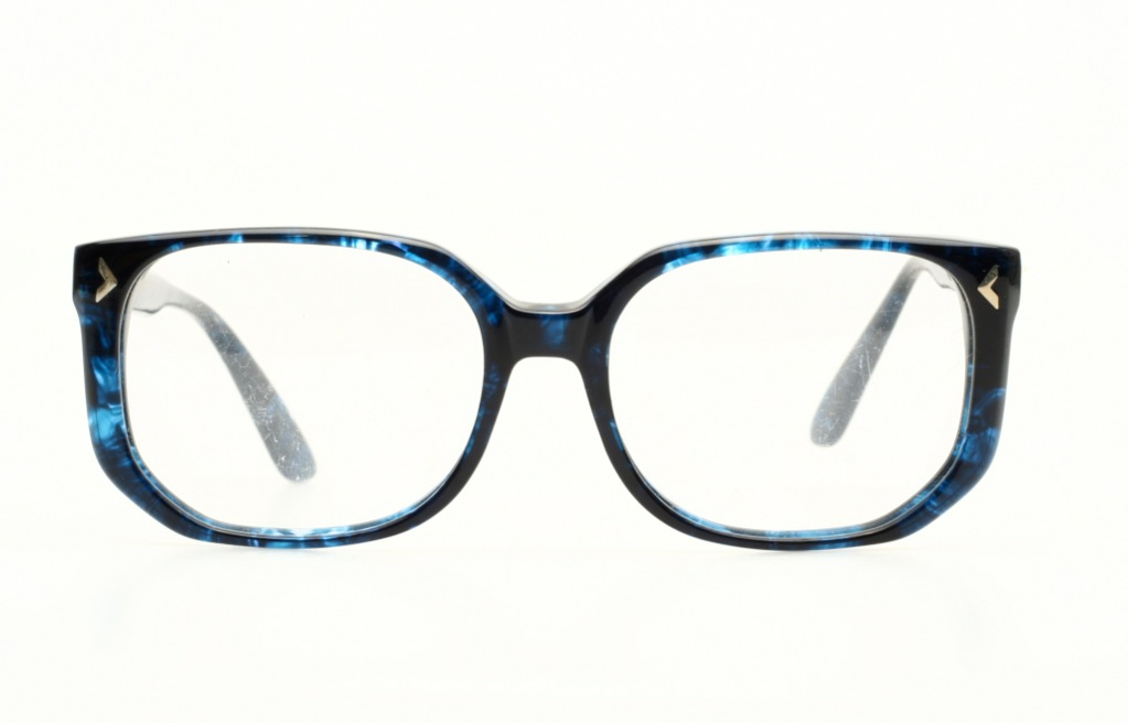great blue vintage eyeglasses for youngsters made by