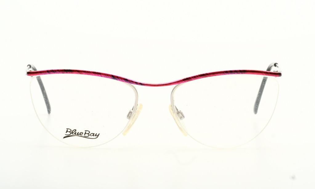 Rimless Glasses Nylon : Just chic, half rimless eyeglasses silver with pink tops ...