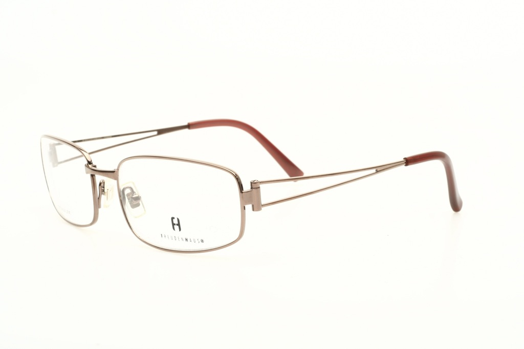 Light metallic brown TITANIUM eyeglasses by FREUDENHAUS ...