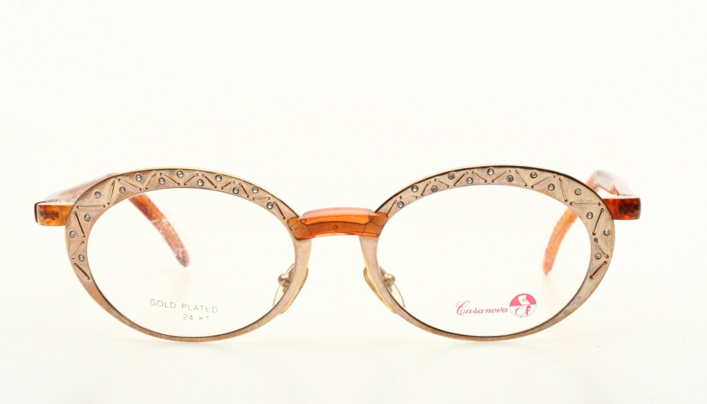 Luxury, oval combi DESIGN eyeglasses, GOLD PLATED 24 Kt by ...
