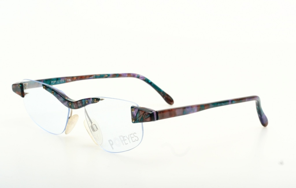 Frameless Vintage Glasses : Rimless, trendy Pop Art Vintage eyeglasses by POP EYES ...
