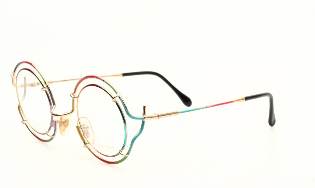 rimmed golden rainbow eyeglasses by