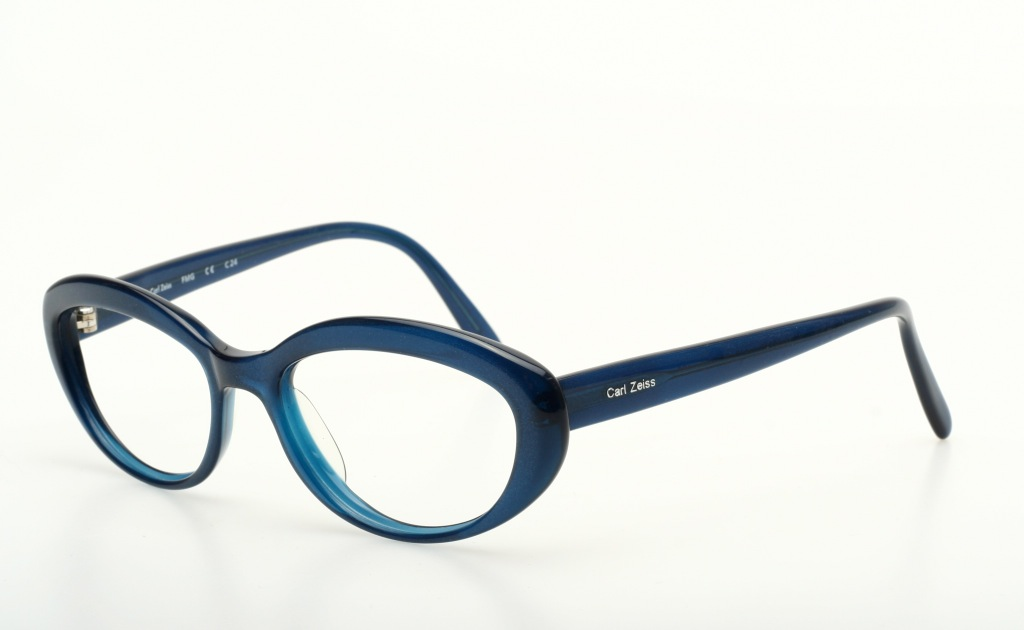 Carl Zeiss Eyeglass Frames : Smaller, massive chic ladies eyeglasses in dark blue by ...