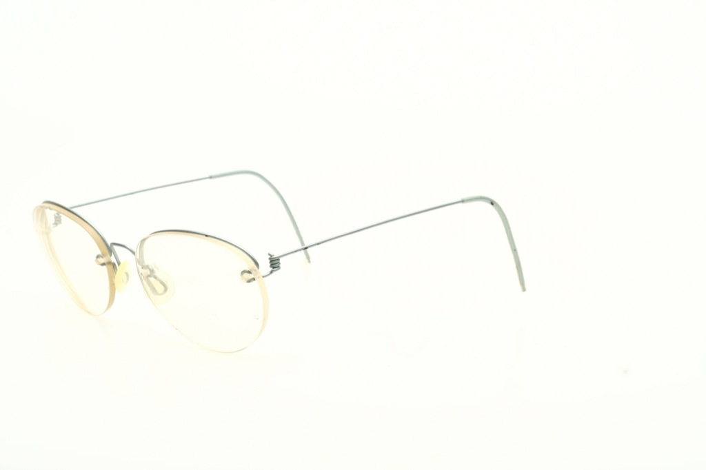 Rimless Eyeglass Nuts : Ultra light, half rimless Titanium eyeglasses,matte silver ...