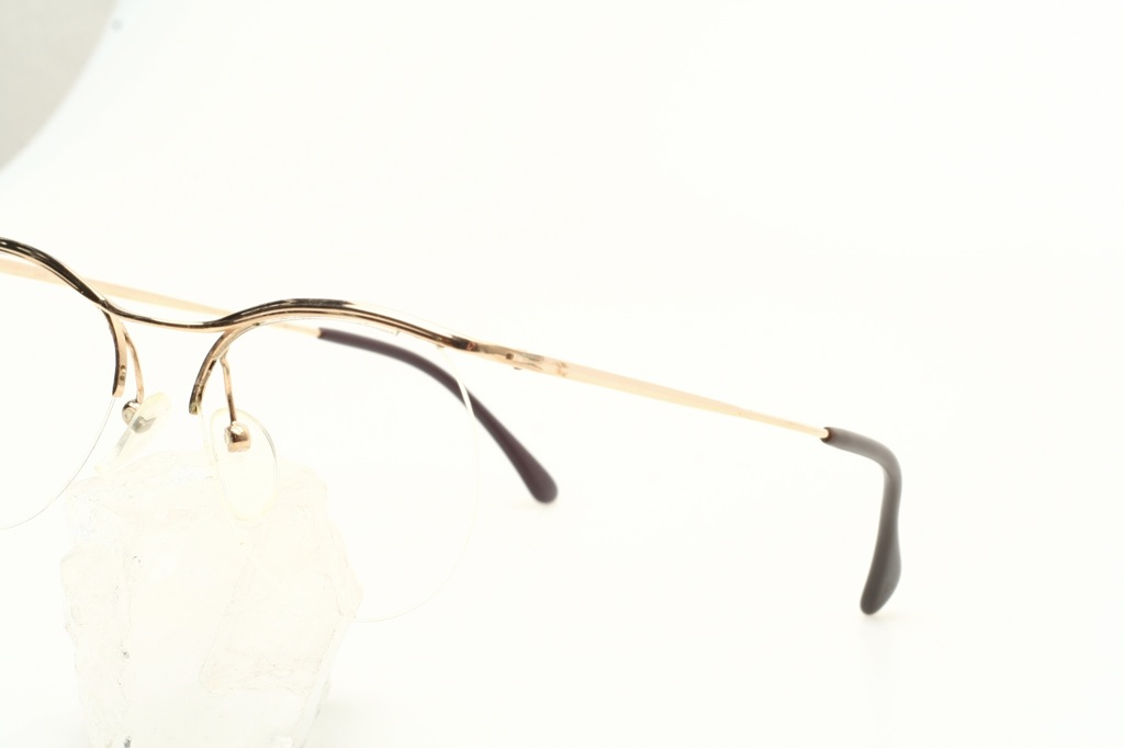 Frameless Vintage Glasses : Vintage half rimless golden eyeglasses by LOGO / Paris - F ...
